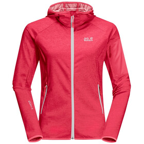 Jack Wolfskin Milford Hooded Jacket Women, clear red